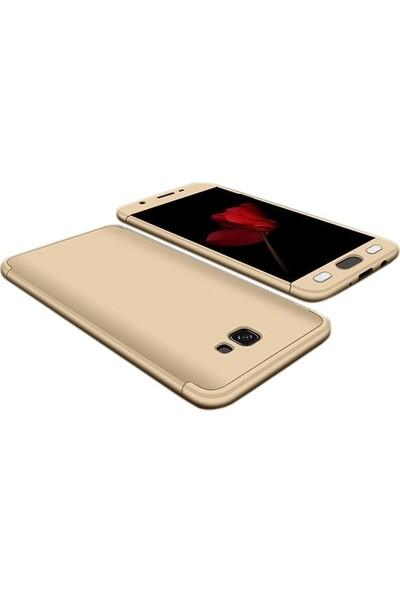 Case Street Samsung Galaxy j7 Prime Kılıf Ays+Nano Glass+Kalem Gold
