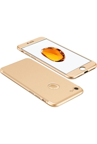 Case Street Apple iPhone 5 5S Kılıf Ays+Nano Glass+Stylus Kalem Gold