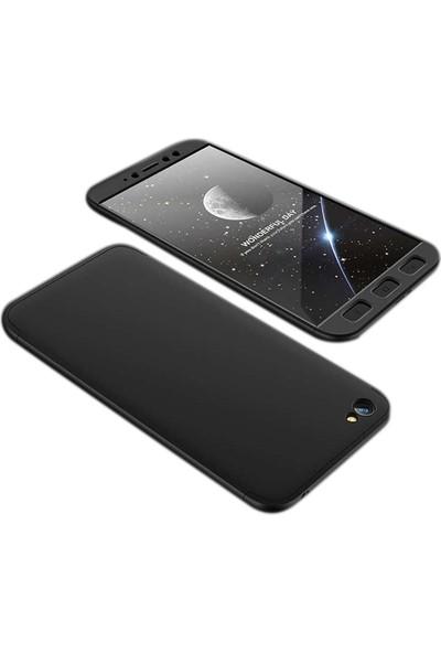 Case Street Xiaomi RedMi Y1 Lite Kılıf Ays 3 Parçalı Full Koruma+Nano Glass Siyah