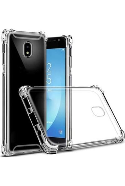 Case Street Samsung Galaxy J7 Pro Kılıf AntiShock Ultra Koruma+Nano Glass Şeffaf