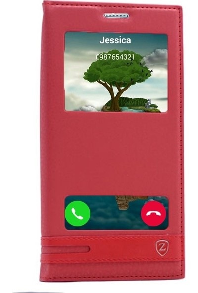 Case Street Huawei Honor 5C Gt3 Kılıf Elite Gizli Mıknatıslı+Nano+Kalem Kırmızı