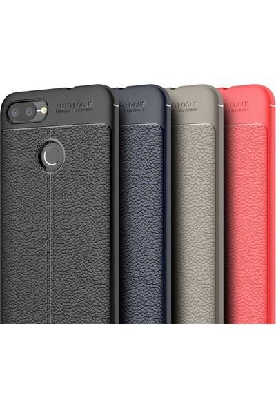 Case Street Asus Zenfone Max Plus Zb570TL Kılıf Niss Silikon+Nano Glass Kırmızı