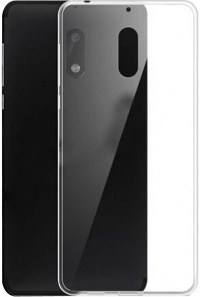 Case Street Nokia 6.1 2018 Kılıf 02 mm Silikon İnce Arka Kapak Şeffaf