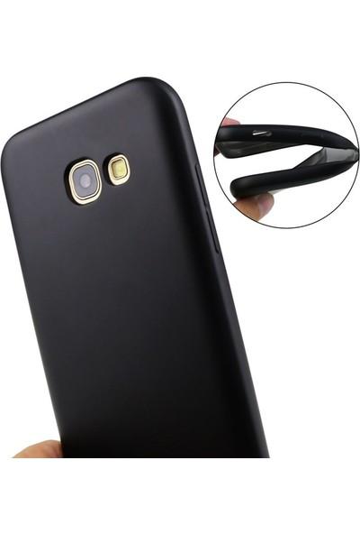 Case Street LG Q7 Plus Kılıf Premier Esnek Lüx Silikon + Nano Glass Siyah
