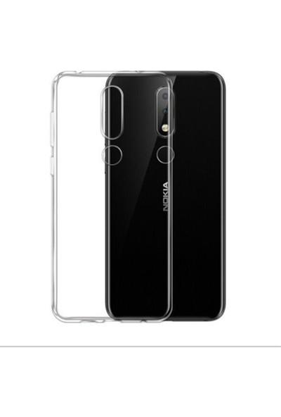 Case Street Nokia 7.1 Kılıf 02 mm Silikon İnce Arka Kapak Şeffaf