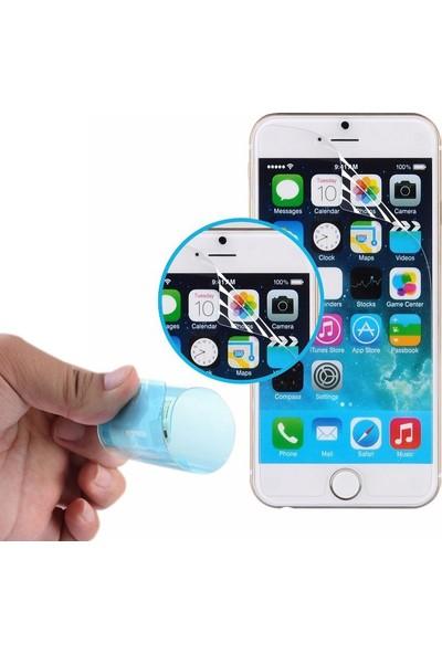 Case Street Apple iPhone 8 Kılıf Gess Yüzüklü Mıknatıslı Silikon + Nano Glass Kırmızı