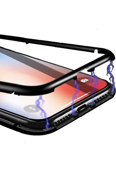 Case Street Samsung Galaxy A7 2018 Kılıf Magnetic Cam 2 in 1 Arka Cam Kırmızı
