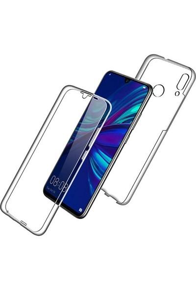 Case Street Huawei Y7 2019 Kılıf Ön Arka Şeffaf Silikon Koruma Şeffaf