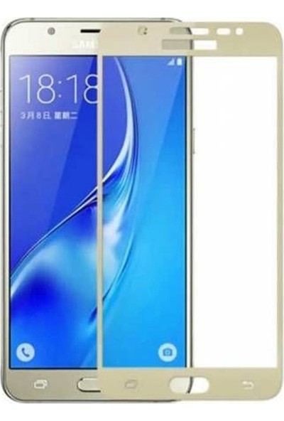 Case Street Samsung Galaxy C7 Pro Full Kapatan Renkli Cam Gold