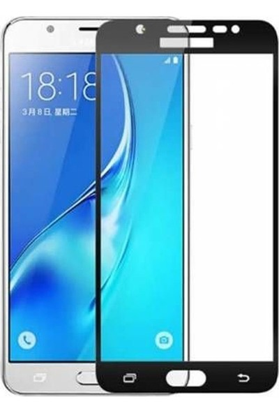 Case Street Samsung Galaxy C7 Pro Full Kapatan Renkli Cam Siyah