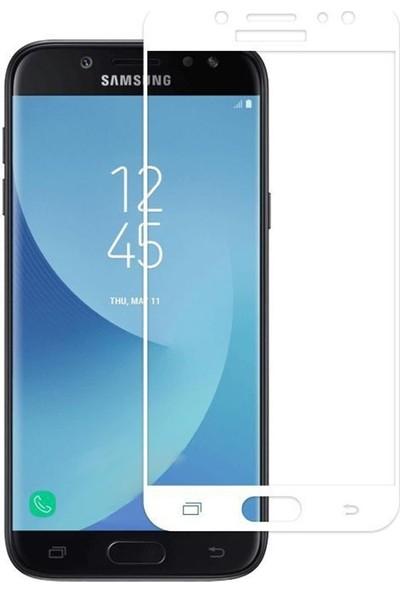 Case Street Samsung Galaxy J3 Pro 2017 Full Kapatan Renkli Cam Beyaz
