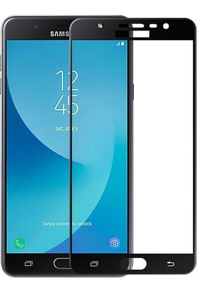 Case Street Samsung Galaxy J3 Pro 2017 Full Kapatan Renkli Cam Siyah