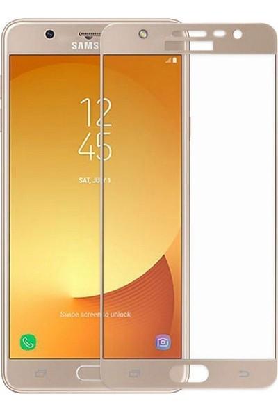 Case Street Samsung Galaxy J7 Pro Full Kapatan Renkli Cam Gold