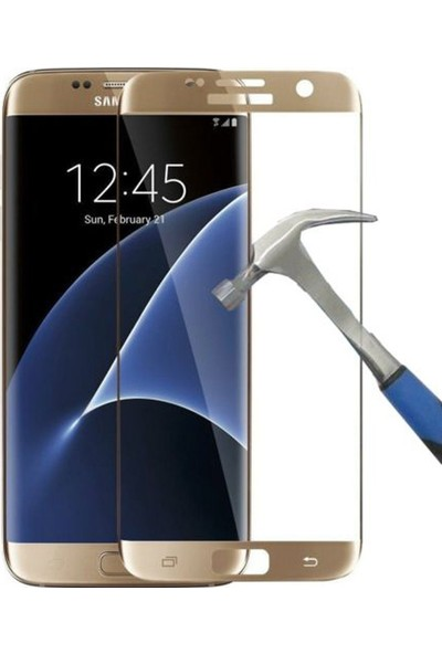 Case Street Samsung Galaxy S6 Edge Plus Full Kapatan Renkli Cam Gold