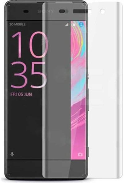 Case Street Sony Xperia XA1 Full Kapatan Renkli Cam Şeffaf