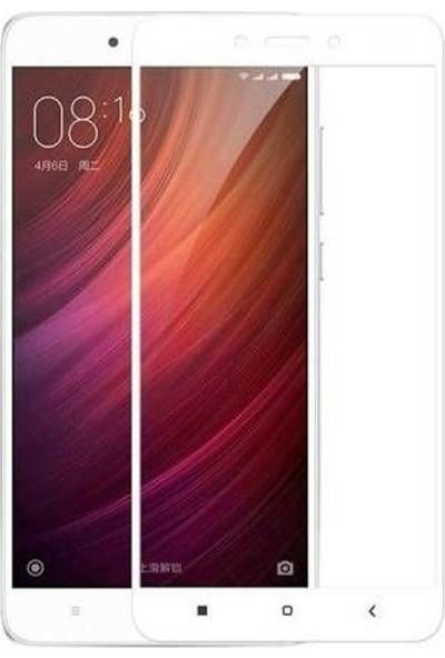 Case Street Xiaomi RedMi 4X Full Kapatan Renkli Cam Beyaz