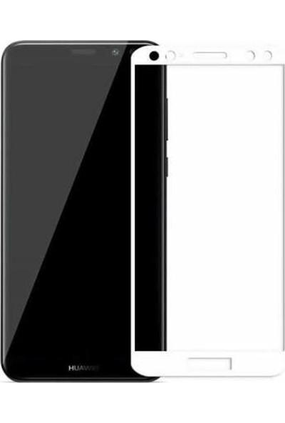 Case Street Huawei Mate 10 Lite Full Kapatan Renkli Cam Beyaz
