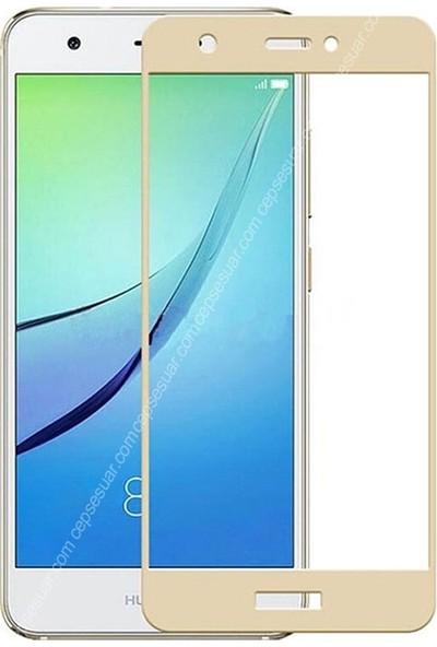 Case Street Huawei P9 Full Kapatan Renkli Cam Gold