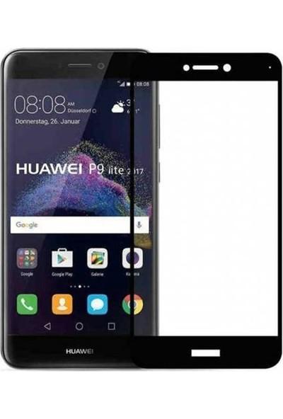 Case Street Huawei P9 Lite 2017 Full Kapatan Renkli Cam Siyah