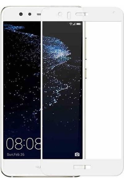 Case Street Huawei P10 Lite Full Kapatan Renkli Cam Beyaz