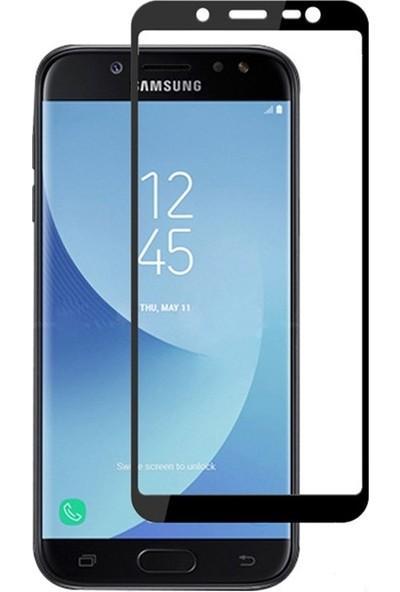 Case Street Samsung Galaxy J6 Full Kapatan Renkli Cam Siyah