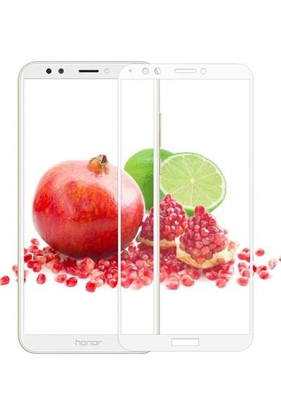 Case Street Huawei Y7 2018 Full Kapatan Renkli Cam Beyaz