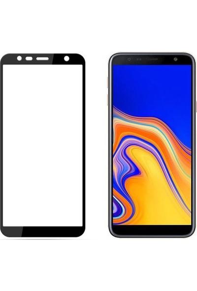 Case Street Samsung Galaxy A7 2018 Full Kapatan Renkli Cam Siyah