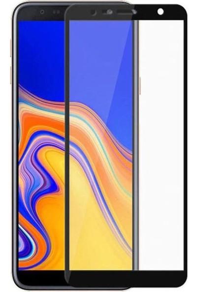 Case Street Samsung Galaxy J4 Plus Full Kapatan Renkli Cam Siyah