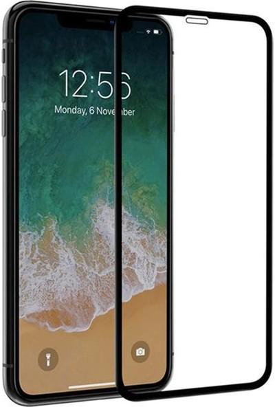 Case Street Apple iPhone XR Full Kapatan Renkli Cam Siyah