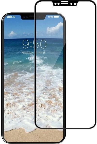 Case Street Apple iPhone XS Full Kapatan Renkli Cam Siyah