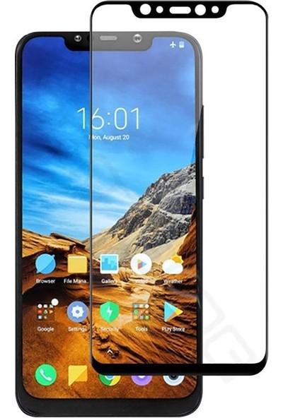 Case Street Xiaomi Pocophone F1 Full Kapatan Renkli Cam Siyah