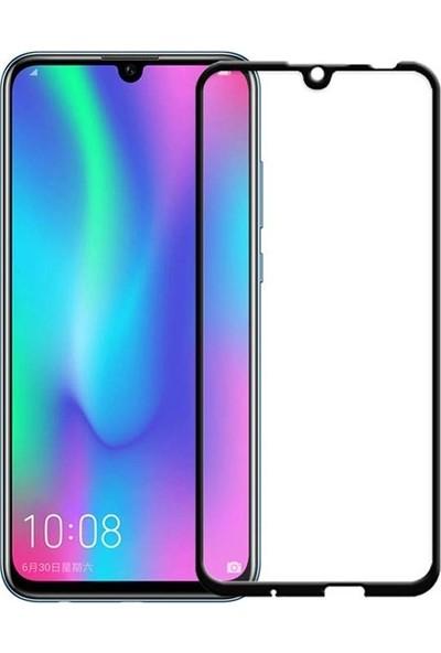 Case Street Huawei Honor 10 Lite Full Kapatan Renkli Cam Tam Koruma Siyah