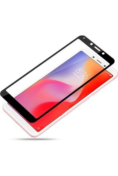 Case Street Xiaomi Red Mi 6A Full Kapatan Renkli Cam Tam Koruma Siyah