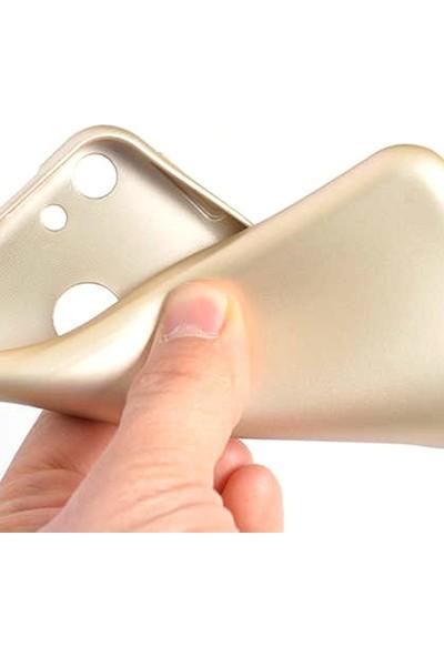 Case Street Vestel Venüs E4 Kılıf Premier Silikon Esnek Koruma+Nano Glass Gold