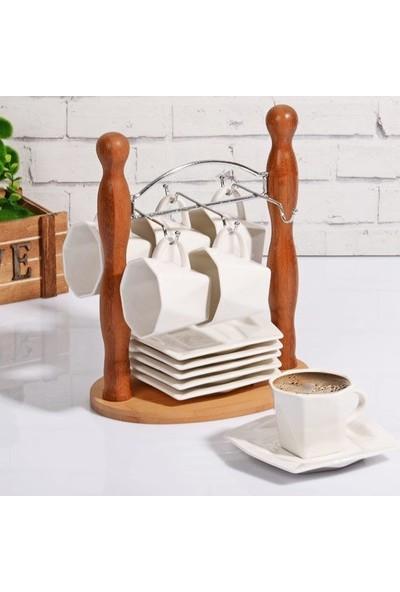 Kitchen World PR-BY 391 BAMBULU Porselen 6lı Askılı Fincan Takımı