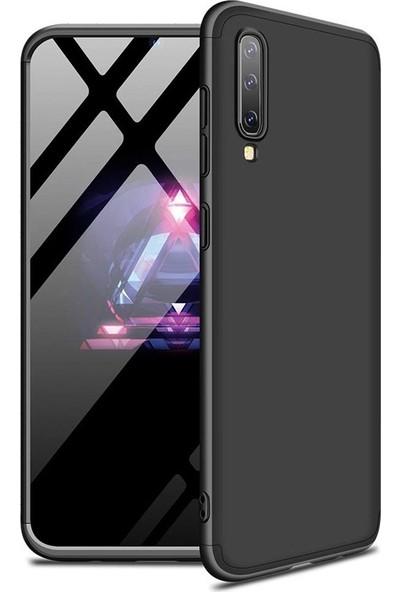 Gpack Samsung Galaxy A70 Kılıf Ays 3 Parçalı Full Korumalı Sert Kapak Siyah
