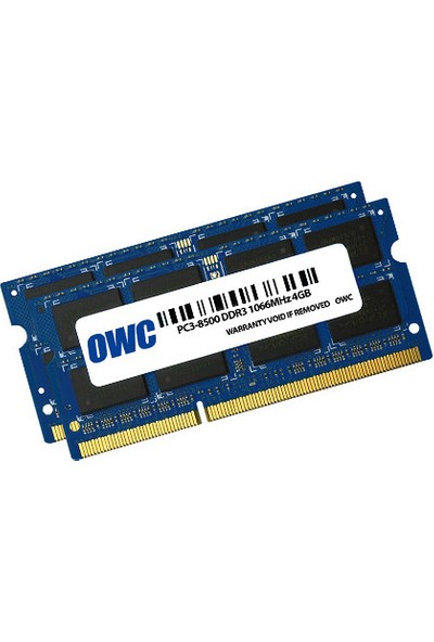 Owc 8GB (2 x 4 GB) 1066MHz DDR3 So-Dimm PC3-8500 204 Pin