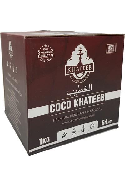 Coco Kül Bırakmayan Khateeb Nargile Kömürü 1 Kg