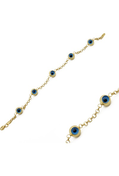 Minamis Silver Mavi Göz Bileklik