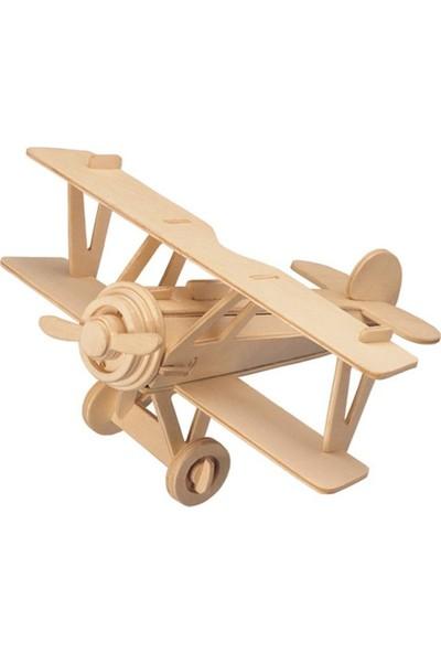 Piramigo 3D Ahşap Maket Boyanabilir Uçak İki Kanat