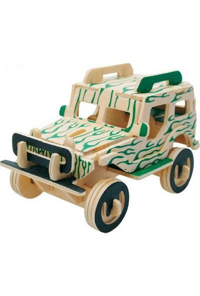 Piramigo 3D Ahşap Maket Jeep