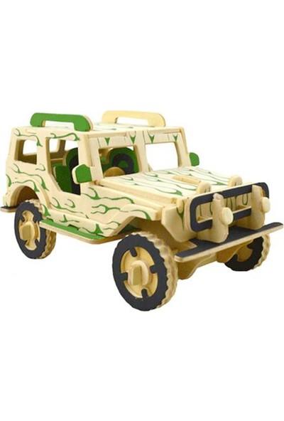 Piramigo 3D Büyük Ahşap Maket Askeri Jeep 50 Parça