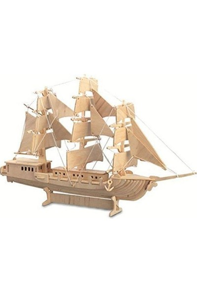 Piramigo 3D Büyük Ahşap Maket Yelkenli Gemi - Sailing Boat