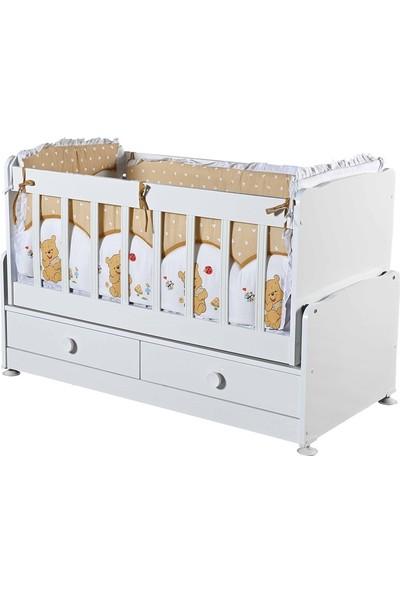 Efe Kids Çekmeceli Sallanır Ahşap Bebek Beşiği Seti
