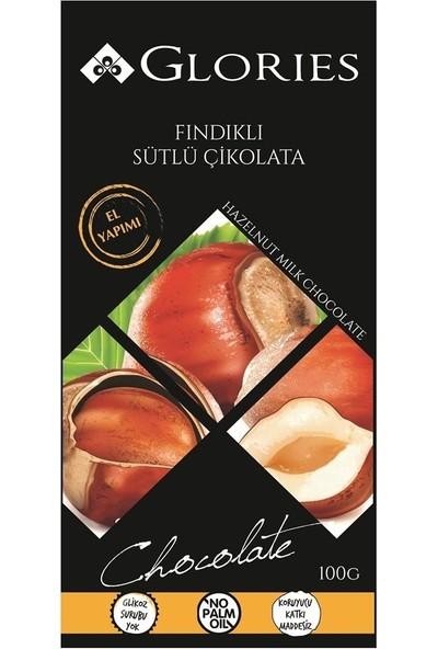 Glories Findikli Sutlu Çikolata 100 Gr