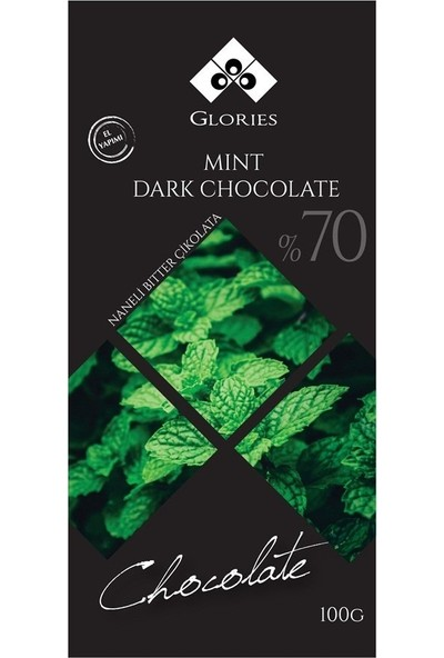 Glories Naneli %70 Bitter Çikolata 100 Gr