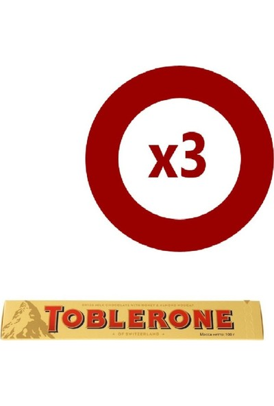 Toblerone Sütlü Çikolata 100gr 3'lü Set