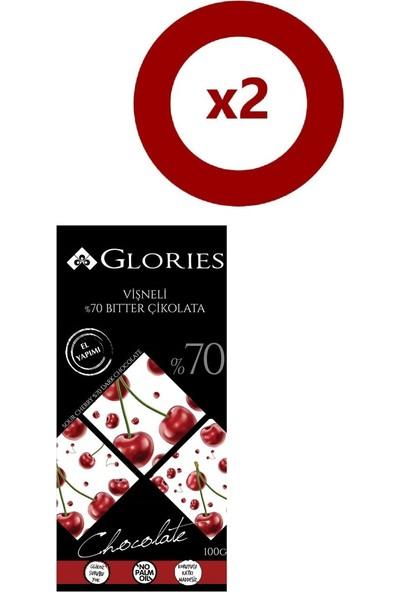Glories Visne %70 Bitter Çikolata 100 gr 2'li Set