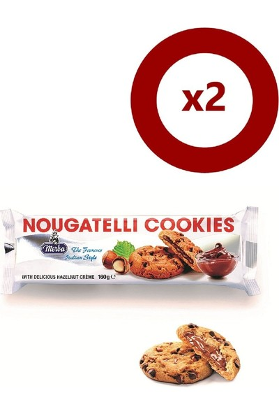 Merba Nougatelli Cookies 175 gr 2'li Set