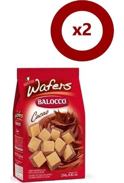 Balocco Gofret Kakaolu 250 gr 2'li Set